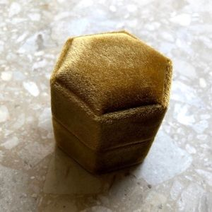 Jewelry - Gold Hexagon Ring Box Wedding Engagement